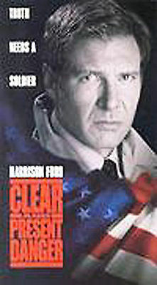 Clear And Present Danger Vhs Harrison Ford  Willem Dafoe Anne Archer Cia Drugs