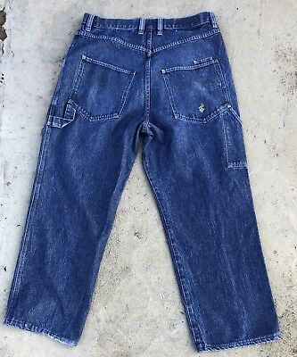 Vintage 1990's Rocawear Hip Hop Baggy Blue. Denim Carpenter Jeans 36 X 28