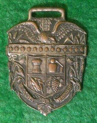 H Clarke and Sons Wine Whiskey Merchant Watch Fob Pendant Est 1884 Baltimore MD