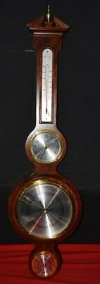 Howard Miller Barometer Weather Station & Clock Wood Quartz Made In Japan Rare