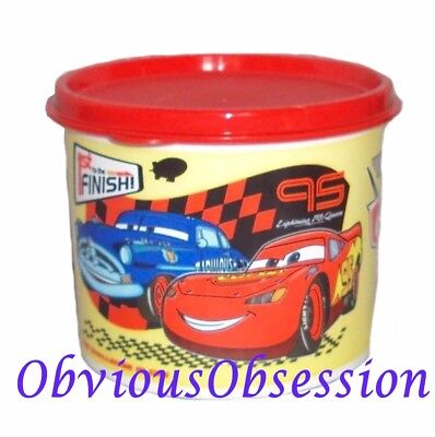 New Tupperware Snack Canister 2.5 C 20 oz Disney Cars Design