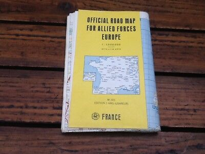 1950s COLD WAR , ALLIED FORCES EUROPE FRANCE ROAD MAP , OFFICIAL
