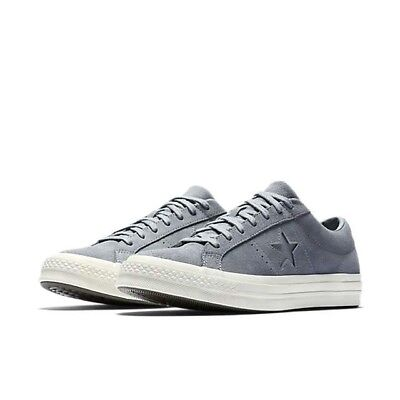 Men's Size 9 Leather Converse One Star Ox Cool Grey Sneakers 158476C Low Tops