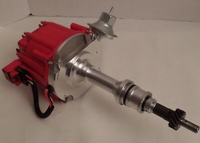 Red Cap Billet Distributor w/ 65K Coil SBF Ford Small Block 289 302 HEI Ignition