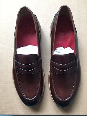 6c1083ec5cc Grenson Maxwell Mens Brown Leather Penny Loafers Size 11 US   10 UK NEW IN  BOX