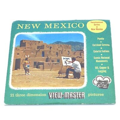 View-Master Packet # N. Mex-1, 2 & 3 New Mexico with book & 3 reels viewmaster