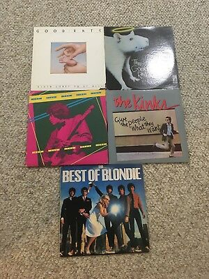 "Lot of 5 Classic Rock Records Vinyl Record Albums LP's 12"" 80s One Promo"