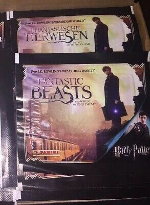Panini Fantastic Beast and where to Find Them 50 Sealed Packets