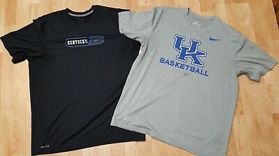 5a110a0f7e276 Men s M L Nike Dri-Fit Kentucky Wildcats Basketball Black Grey Shirts EUC