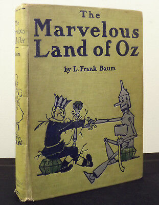 The Marvelous Land of Oz 1904 1st Edition A Binding L Frank Baum Reilly&Britton