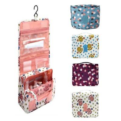 Multifunction Makeup Case Travel Cosmetic Hanging Pouch Toiletry Organizer Bag