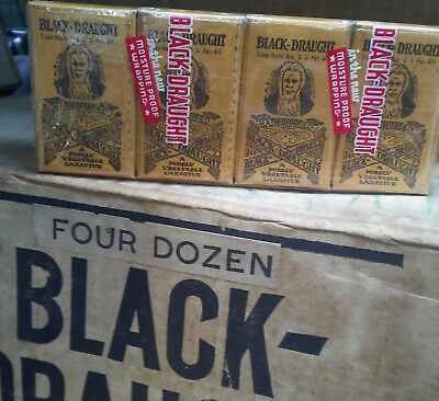 Black Draught laxative. 4 pack.