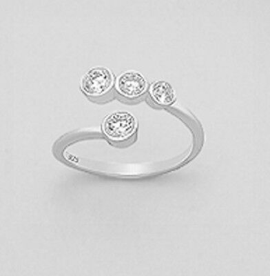 925 sterling silver ring Size is Adjustable Cubic Zirconia AAA Quality Sparkle