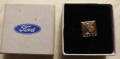 FORD MOTOR Co 30 year SERVICE LAPEL PIN TIE TACK 10k with FORD BOX HTF