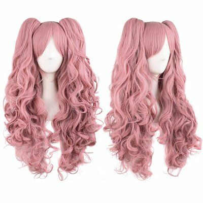 100CM Lolita Fluffy Long Curly Wavy Halloween Fashion Wig + Cap Party Cosplay