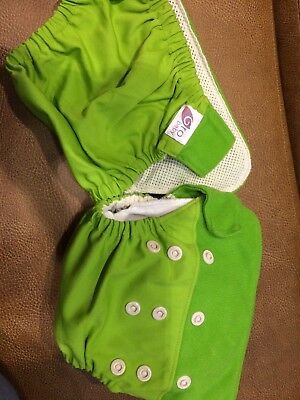 2Baby Boy Girl Cloth Diaper One Size Adjustable Hip Snaps Nappy Covers & 1 Liner