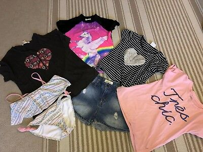 Girls Size 10 Bundle Bulk Buy - 6 Items - Billabong -Lee Cooper -Summer Clothing
