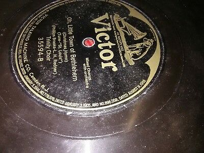 Victor talking machine Oh, Little Town Of Bethlehem record! Rare!