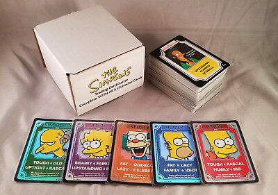 The Simpsons TCG Base Set - Complete WITH all 5 Foil Character Cards