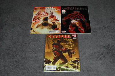 #1 1St Issue Lot Of 3 - Old Man Logan 1 - Death Of Wolverine 1 - Deadpool 1 2007