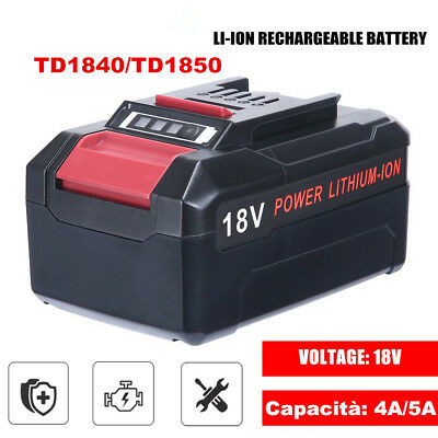 Caricabatteria rapido con batteria Einhell Power-X-Change 18V LITIO Kit 4AH 5 AH