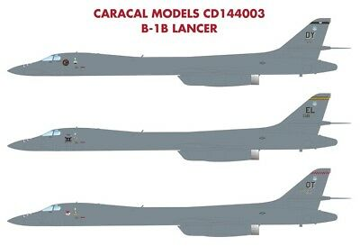 Caracal Models 1/144 decal CD144003 for the B-1B Lancer kit - 7 diff markings!
