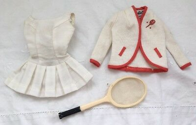 Vintage Barbie TENNIS ANYONE  Dress Fashion Outfit  #941 Tagged Jacket Racquet