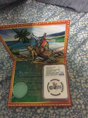 2016 Tuvalu Ocean Fairy Silver proof NGC PF 69 1/2 oz color