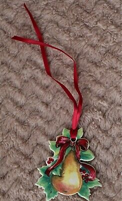Longaberger 2000 Christmas Pear Basket Tie-On