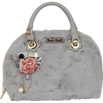 Nicole Lee Yeva Faux Fur Dome Shoulder Bag - Grey