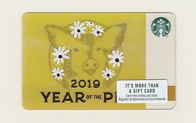 2019 Starbucks Year of the Pig gift card series 6162 US