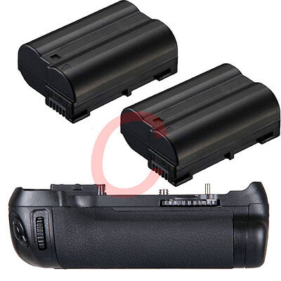 Vertical Battery Hand Grip for Nikon D600 D610 + 2x EN-EL15 SLR Camera as MB-D14