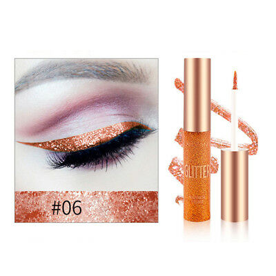 Orange Glitter Liquid Eyeliner Colorful Waterproof Eye Makeup Cosmetics Tools #6