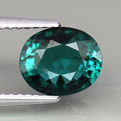 1.77ct.STUNNING! RARE COLOR 100%NATURAL TOP GREEN TOURMALINE OVAL SHAPE