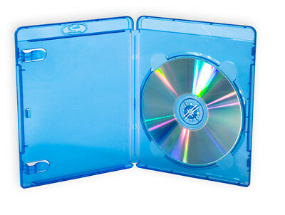$0 p&h) 1x Single Capacity Blu ray Cases 14mm Quality logo Std size Bluray Cover