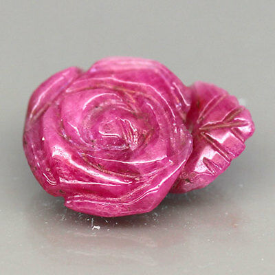 7.61ct.HAND MADE (FLOWER CARVED) 100%NATURAL PINKISH RED RUBY NICE!