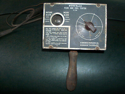 1920's-1940's WORKRIGHT PLUG AND COIL TESTER AUTOMOBILIA COLLECTIBLE UNTESTED