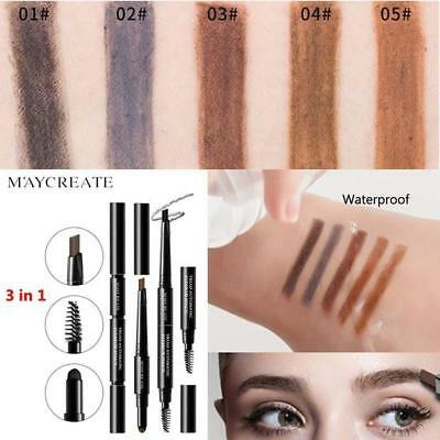 Fashion Tattoo Eyebrow Pen Artist Eye Makeup Fine Sketch Smudge-proof UK STOCK