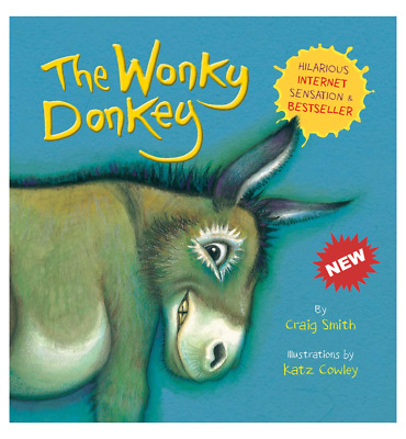 Children Book The Wonky Donkey Book Paperback by Craig Smith - Funny Kids Bedtim