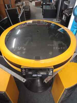 Japanese GEC Weltron 2007 Stereo System with speakers and stand Pac Man yellow
