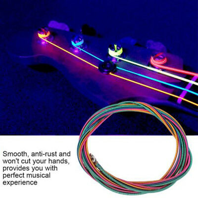 New 4 String Electric Bass Guitar Strings Light Gauge .046 To .100 Colored