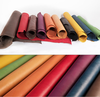Drum Dyed Vegetable Tanned Cow Hide Leather Piece Craft Tooling Carving Moulding