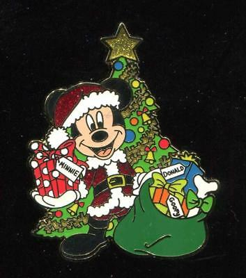 Mickey Mouse Santa Holiday Christmas Tree Presents Disney Pin