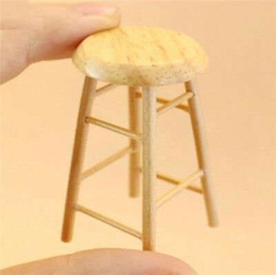 Handcraft 1:12 Dollhouse Miniature Furniture Room Wooden Stool Chair With Box ^