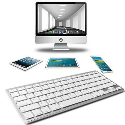 Universal White Bluetooth Keyboard For All iOS Devices Android Mac iPad iPhone