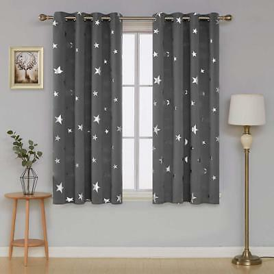 Star Curtain Drop Blackout For Kid Children Nursery Thermal Insulated Eyelet NEW