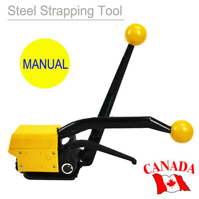 "A333 Manual Steel Strapping Tools for Strapping Width 1/2""-3/4"" Adjustable 【CA】"