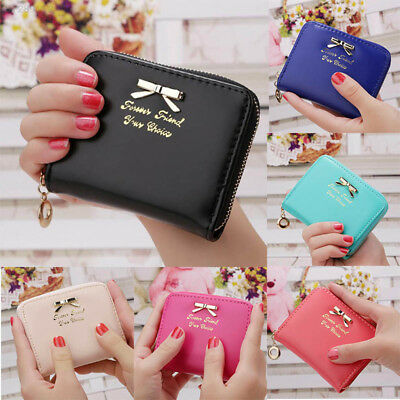 3754 Ladies Clutch Woman Short Bowknot Purse Phone ID Card Holder Handbag Bag