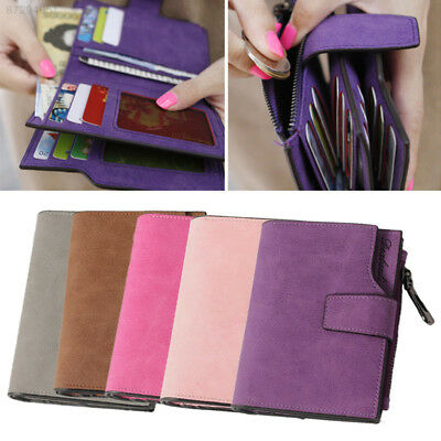 41B3 Women's Short Wallet Coin Purse Organizer Pocket Small Credit Card Holder