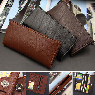 F1B4 Purses ID Card Accessories Coin Bag Package Men Multifunction PU Leather